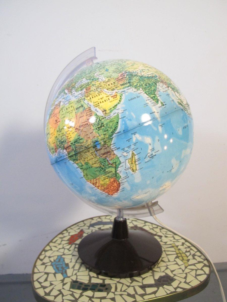 beleuchteter vintage globus 1970er bei pamono kaufen