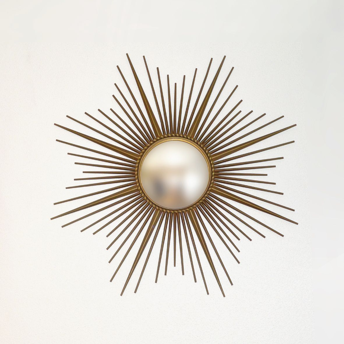 large midcentury sun mirror from chaty vallauris