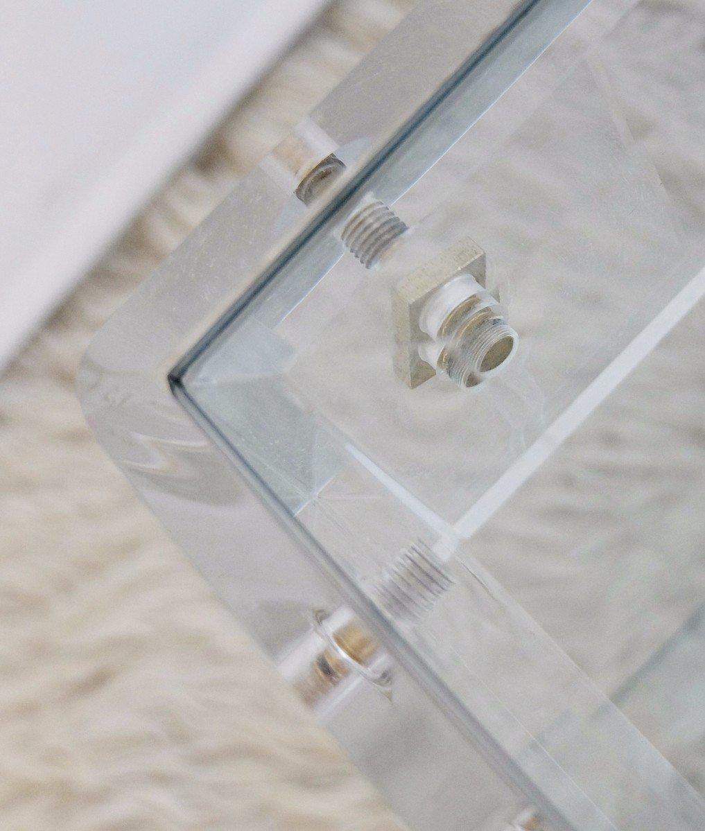 Zweistufiger vintage couchtisch aus plexiglas glas bei for Couchtisch plexiglas