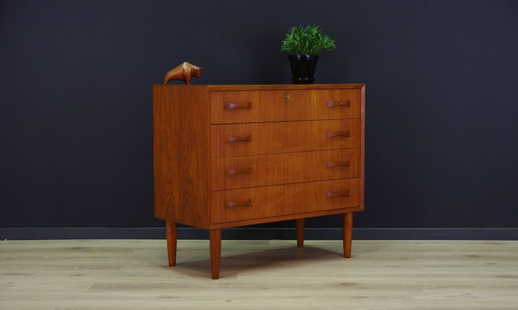 d nische mid century teak furnier kommode bei pamono kaufen. Black Bedroom Furniture Sets. Home Design Ideas