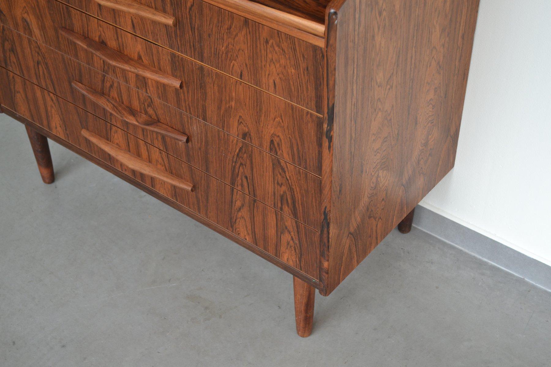 d nischer mid century palisander sekret r mit spiegel 1960er bei pamono kaufen. Black Bedroom Furniture Sets. Home Design Ideas