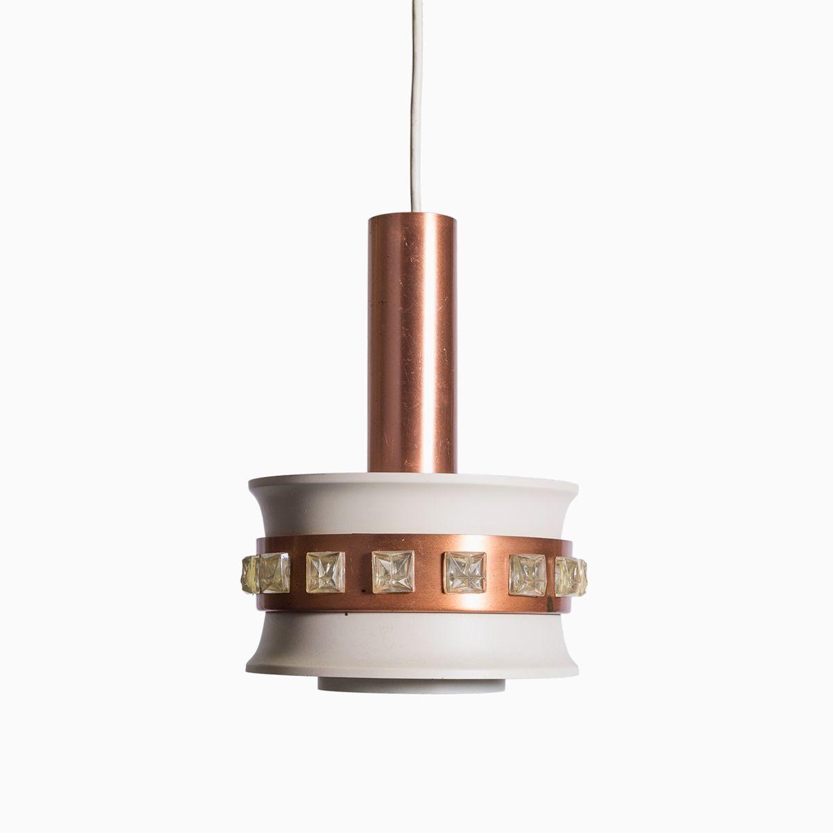 Vintage metall h ngelampe mit rose gold details bei pamono - Bistrotisch mit 2 stuhlen metall ...