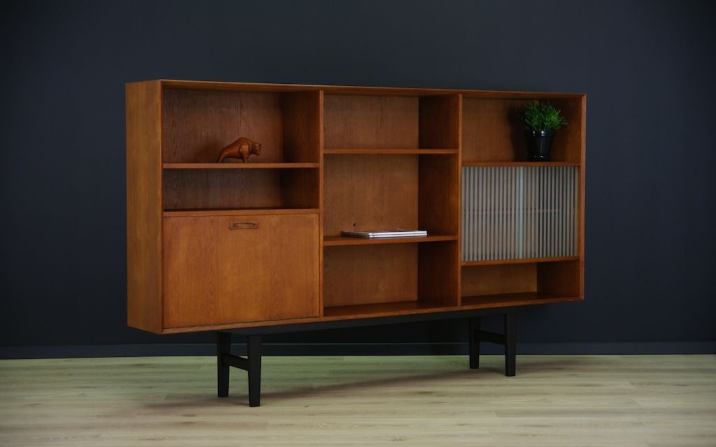 Danish Highboard with Bar Cabinet for sale at Pamono