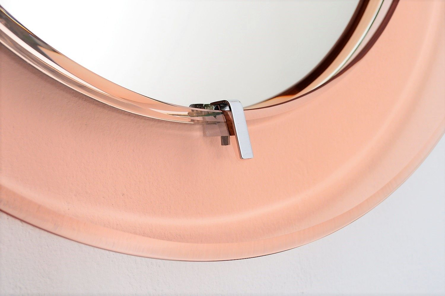 Italian pink glass wall mirror 1970s for sale at pamono for Glass and mirror company