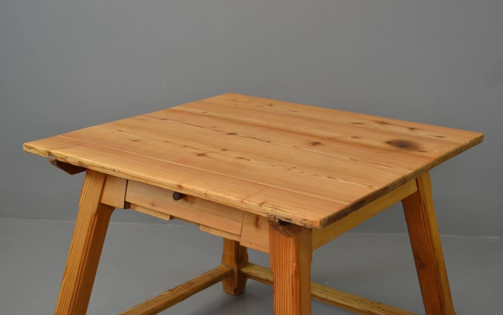 Vintage Arts Crafts Pine Dining Table For Sale At Pamono