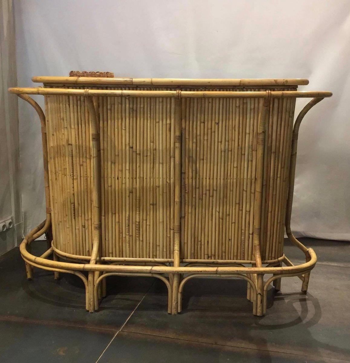 rattan bar 1950s for sale at pamono. Black Bedroom Furniture Sets. Home Design Ideas