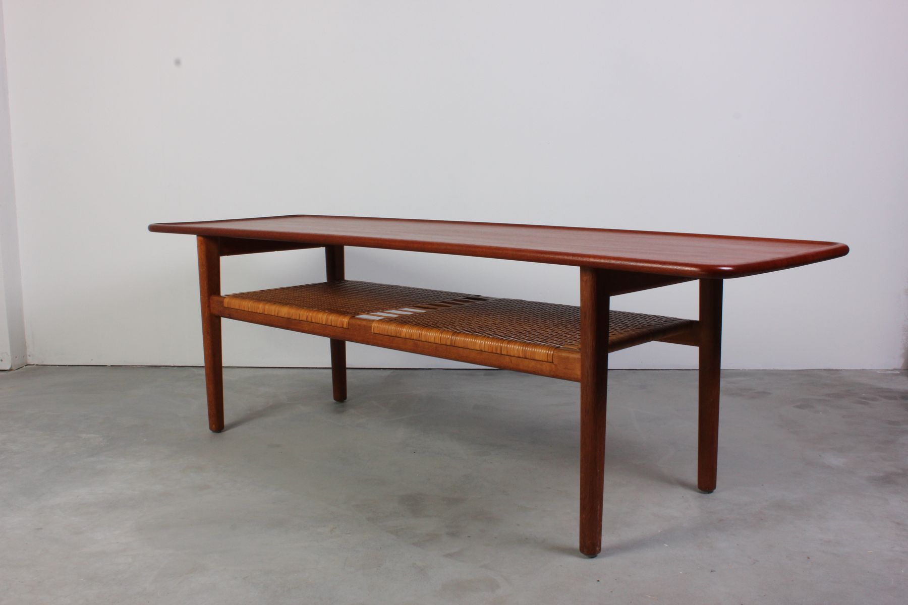 Mid Century AT 10 Teak Coffee Table by Hans J Wegner for Andreas