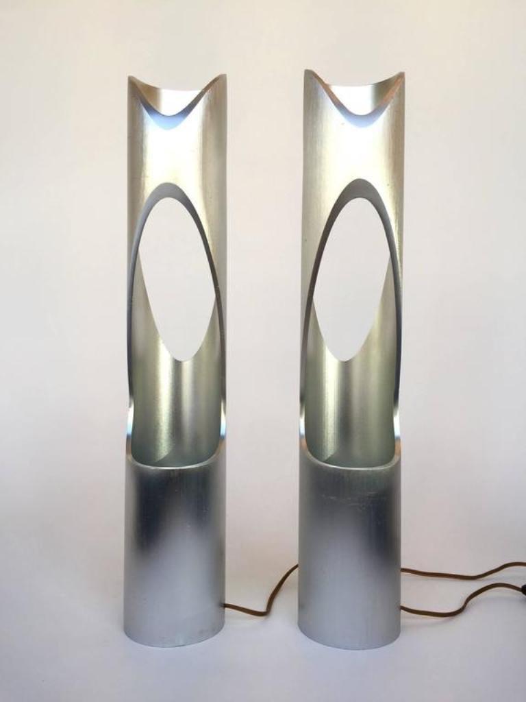 skulpturelle vintage lampen 1970er 2er set bei pamono kaufen. Black Bedroom Furniture Sets. Home Design Ideas