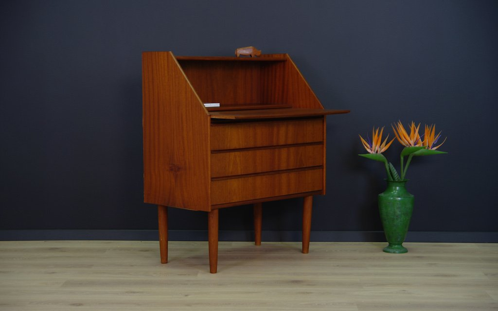 d nischer mid century teak furnier sekret r bei pamono kaufen. Black Bedroom Furniture Sets. Home Design Ideas
