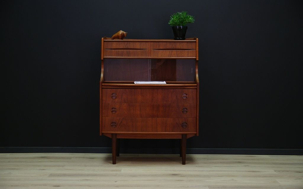 vintage danish modern teak furnier sekret r bei pamono kaufen. Black Bedroom Furniture Sets. Home Design Ideas