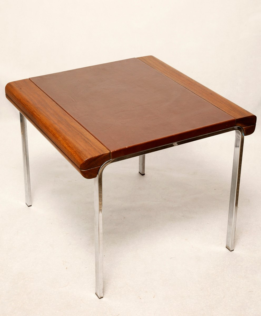 Coffee Table With Leather Top: Vintage Danish Coffee Table With Leather Top, 1980s For