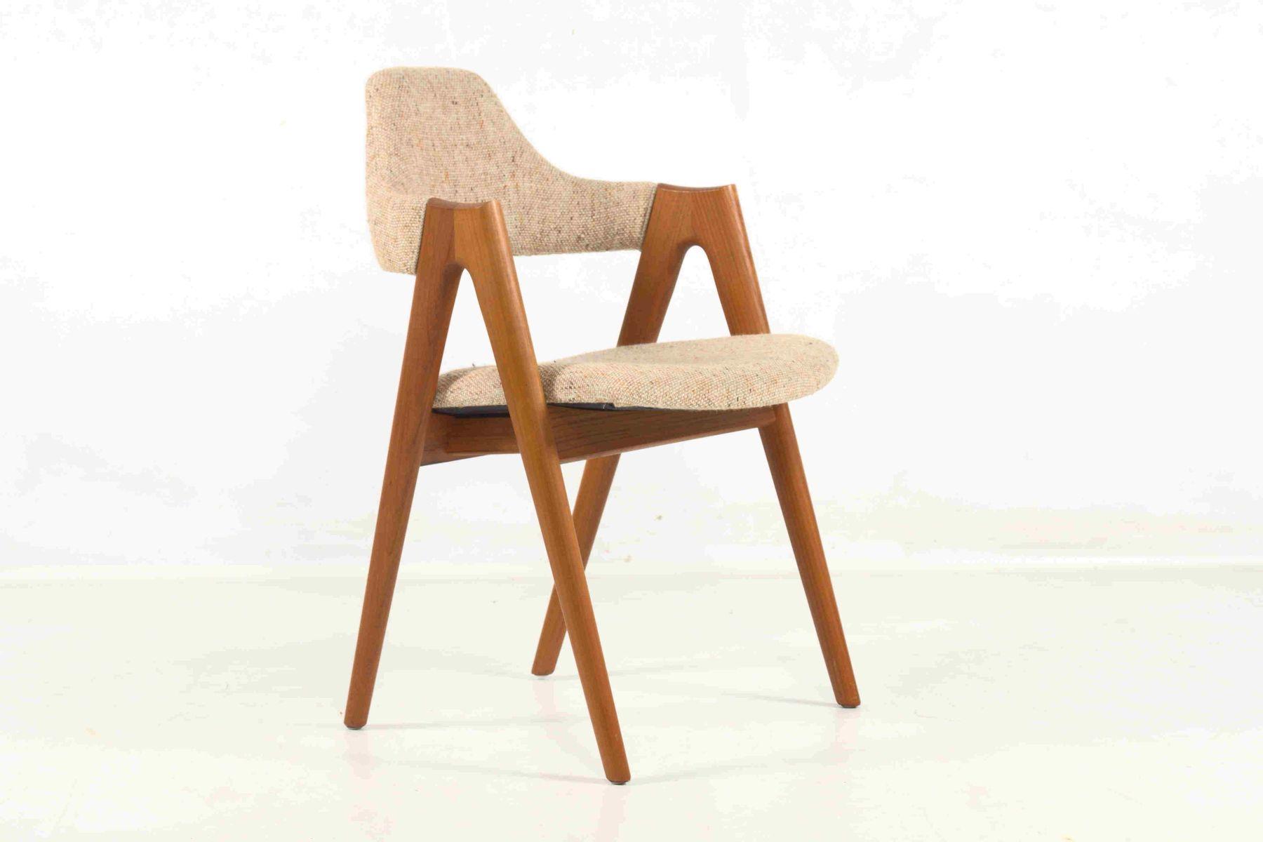 Danish Vintage Chair in White Wool by Kai Kristiansen for SVA