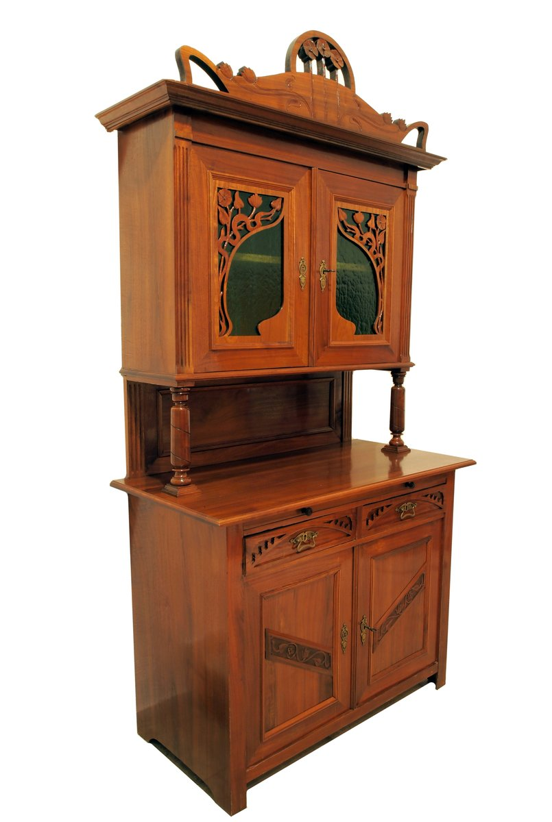 antique german art nouveau buffet for sale at pamono. Black Bedroom Furniture Sets. Home Design Ideas