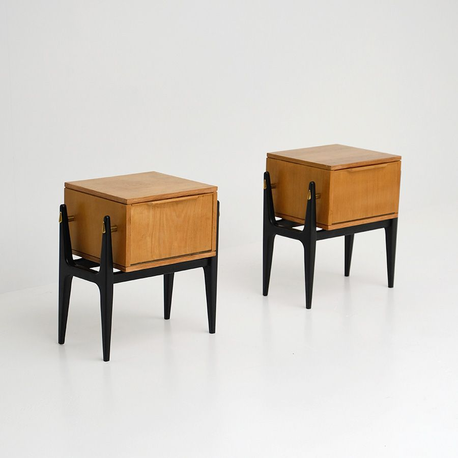 Night Stands 1950s Set Of 2 For Sale At Pamono