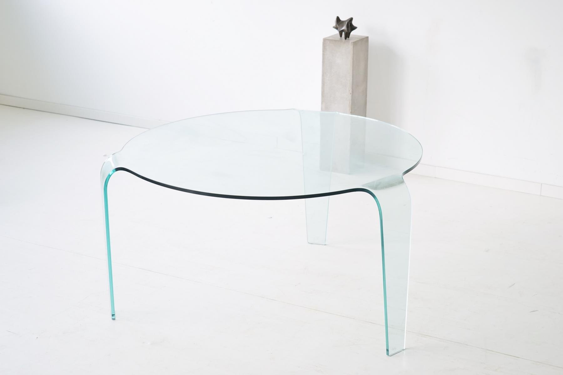 Vintage Glass Table from Roche Bobois for sale at Pamono