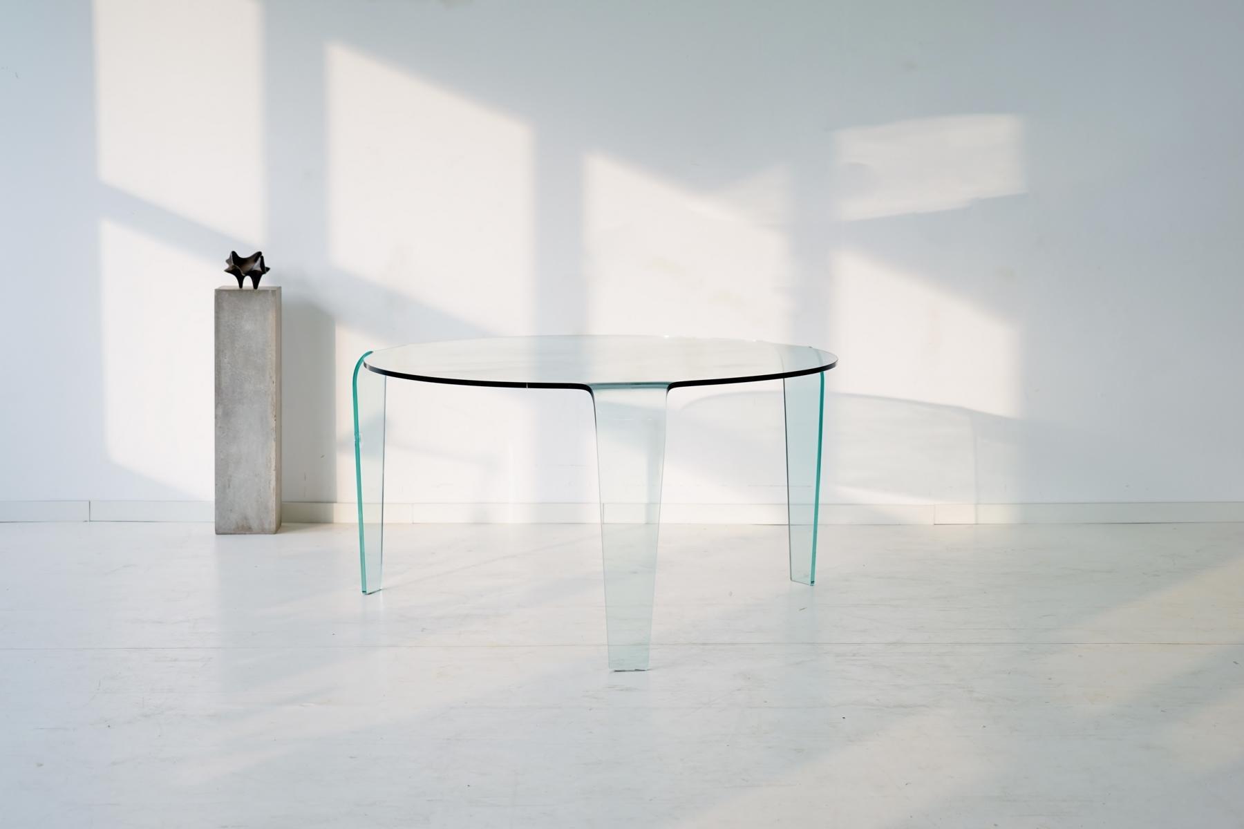 vintage glastisch von roche bobois bei pamono kaufen. Black Bedroom Furniture Sets. Home Design Ideas