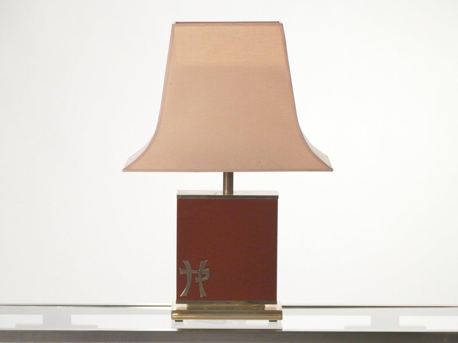 lackierte lampen aus messing von jean claude mahey f r. Black Bedroom Furniture Sets. Home Design Ideas