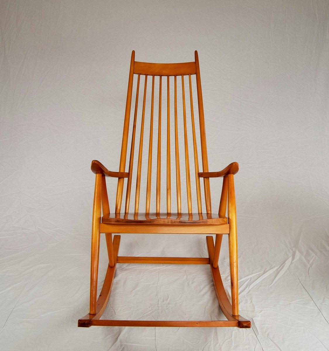 finnischer schaukelstuhl von varjosen puunjalostus f r. Black Bedroom Furniture Sets. Home Design Ideas