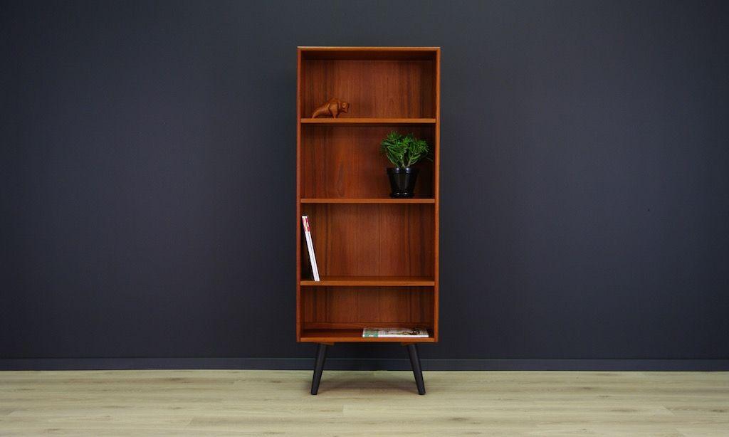 d nisches vintage teak furnier regal bei pamono kaufen. Black Bedroom Furniture Sets. Home Design Ideas