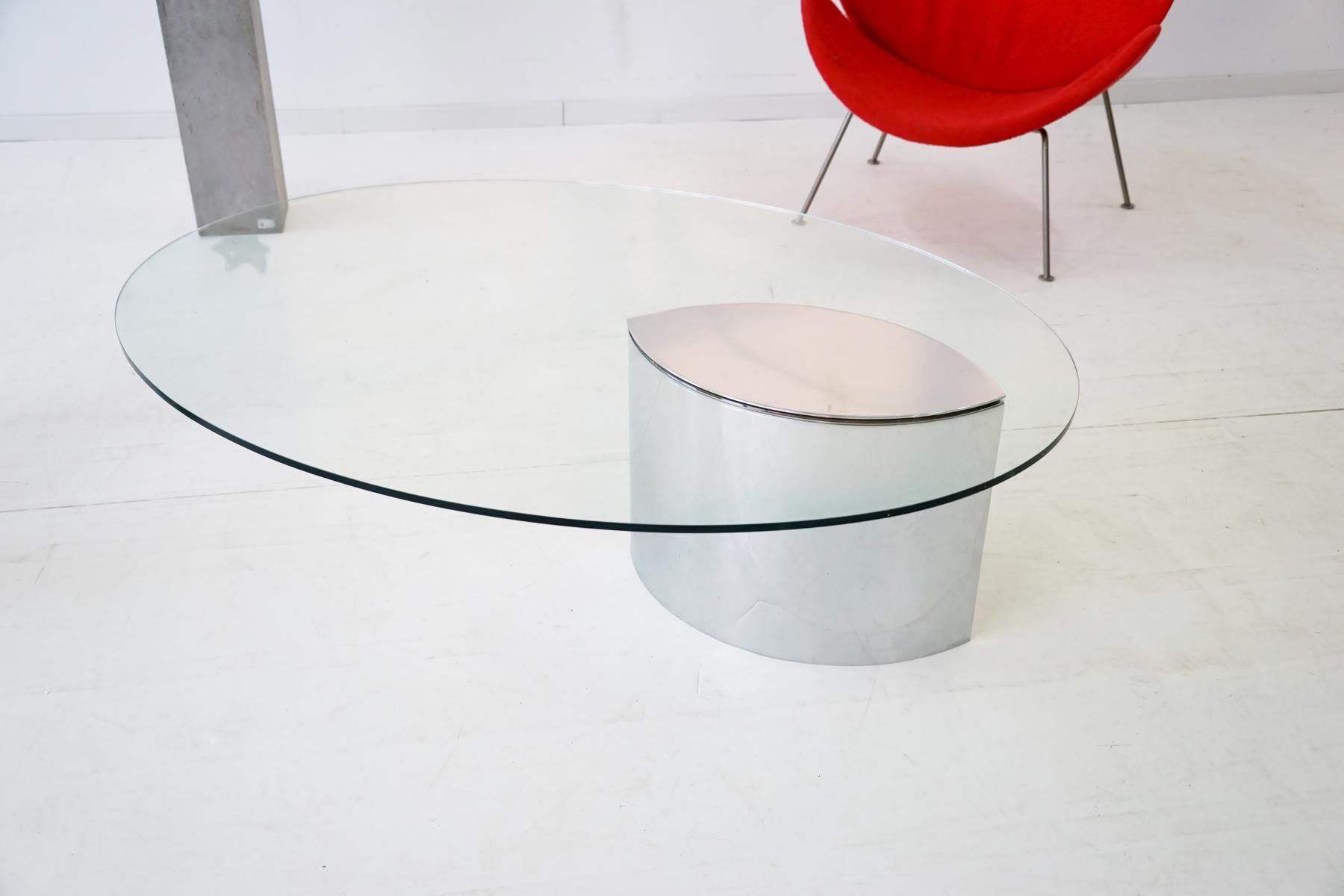 Vintage Italian Lunario Glass Coffee Table by Cini Boeri for Gavina