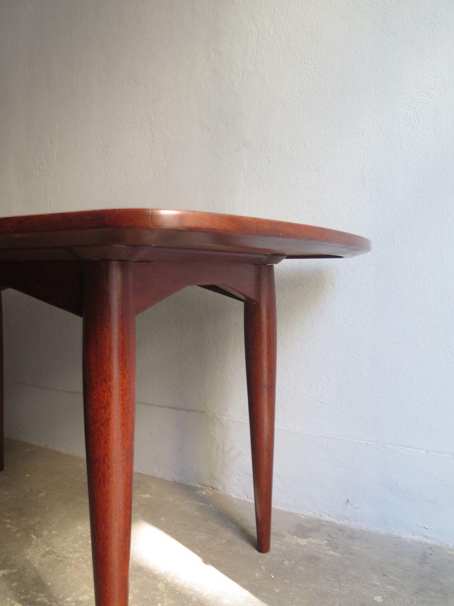 brasilianischer vintage esstisch mit zwei ausziehbaren tischplatten bei pamono kaufen. Black Bedroom Furniture Sets. Home Design Ideas