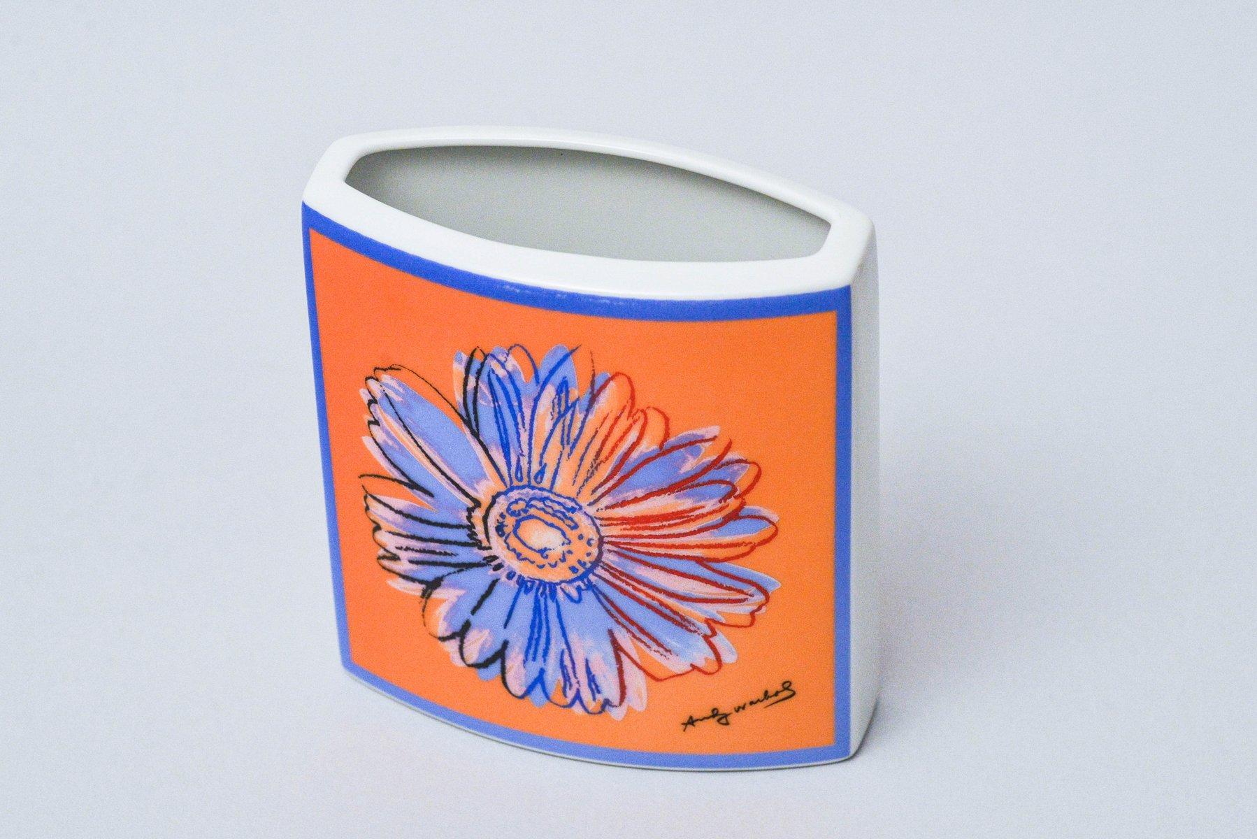 vintage daisy vase von andy warhol f r rosenthal studio line bei pamono kaufen. Black Bedroom Furniture Sets. Home Design Ideas