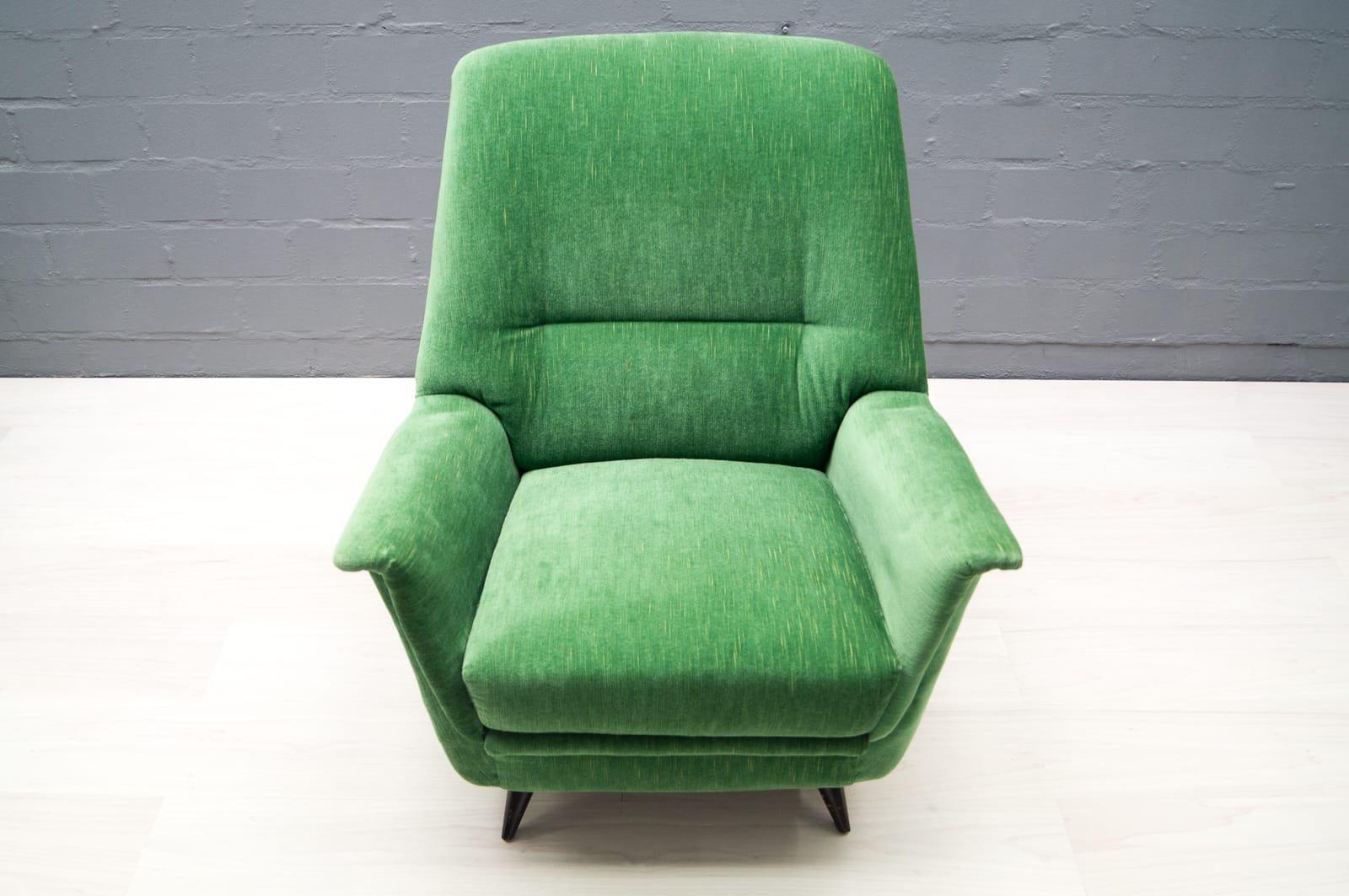 mobilier de salon vert pomme italie 1950s en vente sur pamono. Black Bedroom Furniture Sets. Home Design Ideas