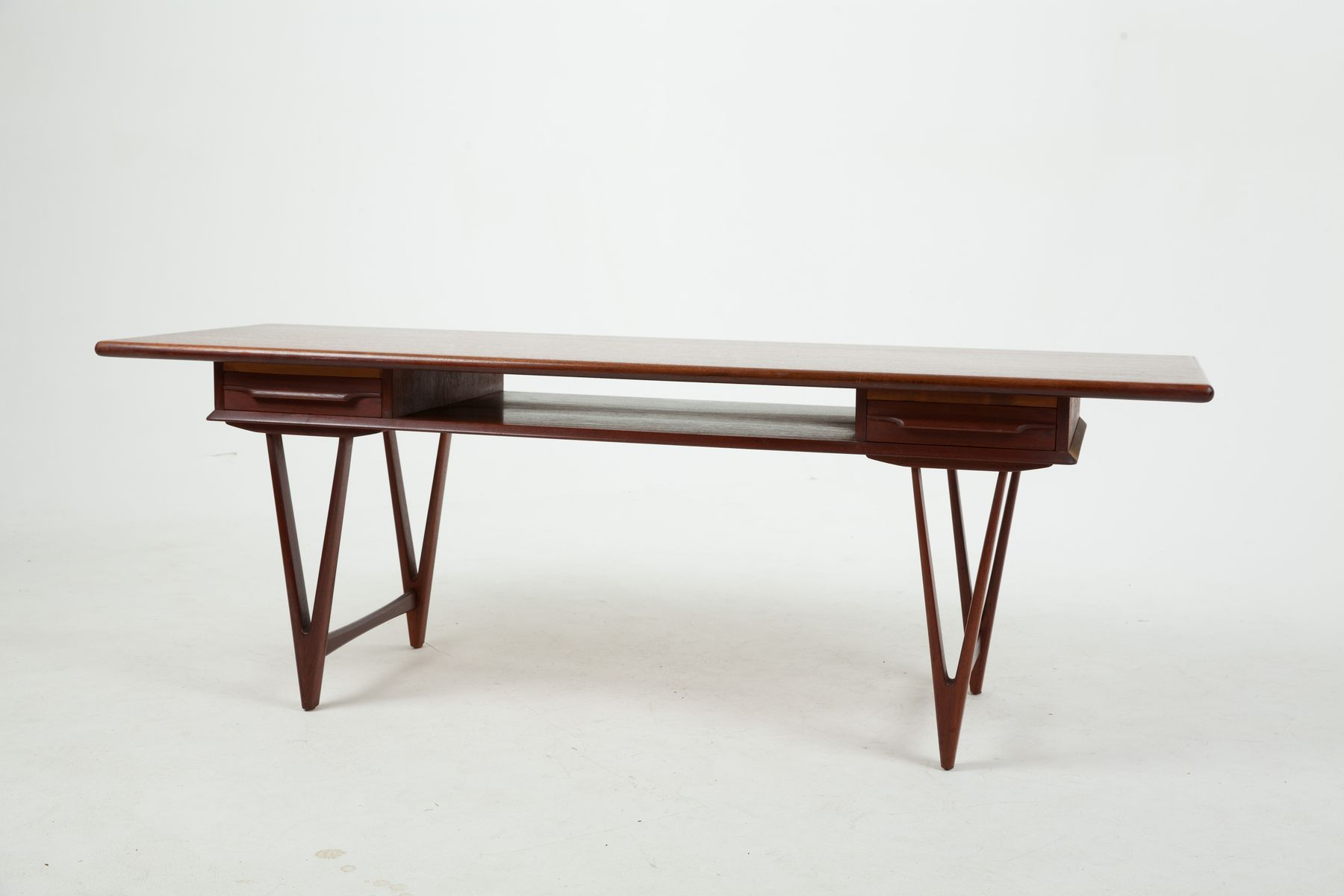 Danish teak coffee table by ew bach for toften 1960s for sale danish teak coffee table by ew bach for toften 1960s geotapseo Images