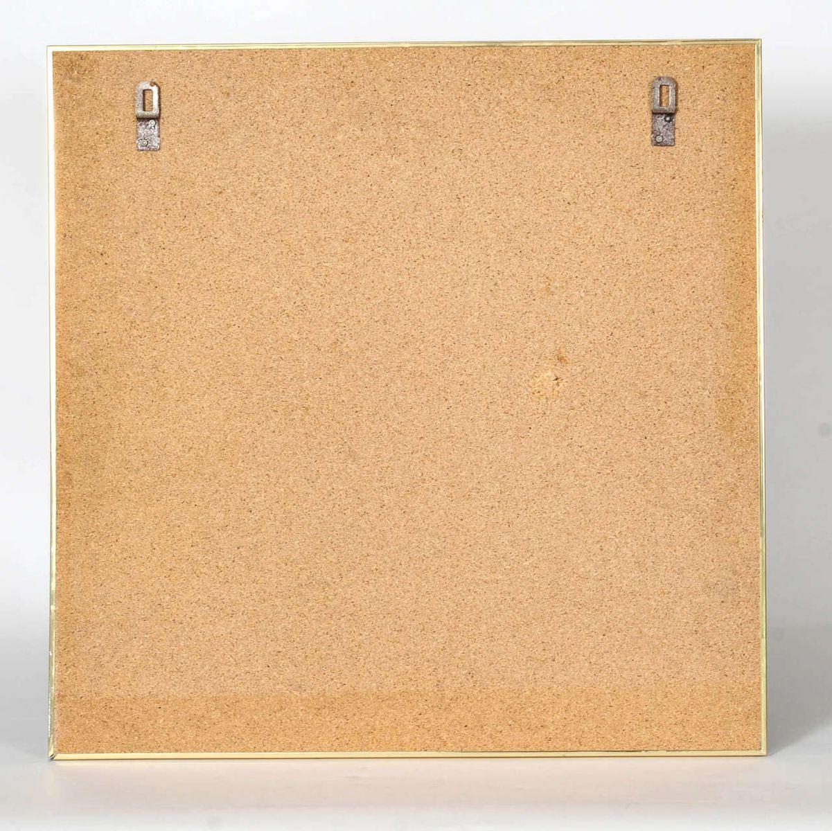 oktogonaler vintage spiegel mit rahmen in schwarz und messing bei pamono kaufen. Black Bedroom Furniture Sets. Home Design Ideas