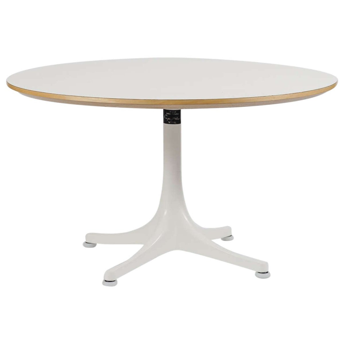 Vintage Pedestal Coffee Table By George Nelson For Vitra For Sale At Pamono