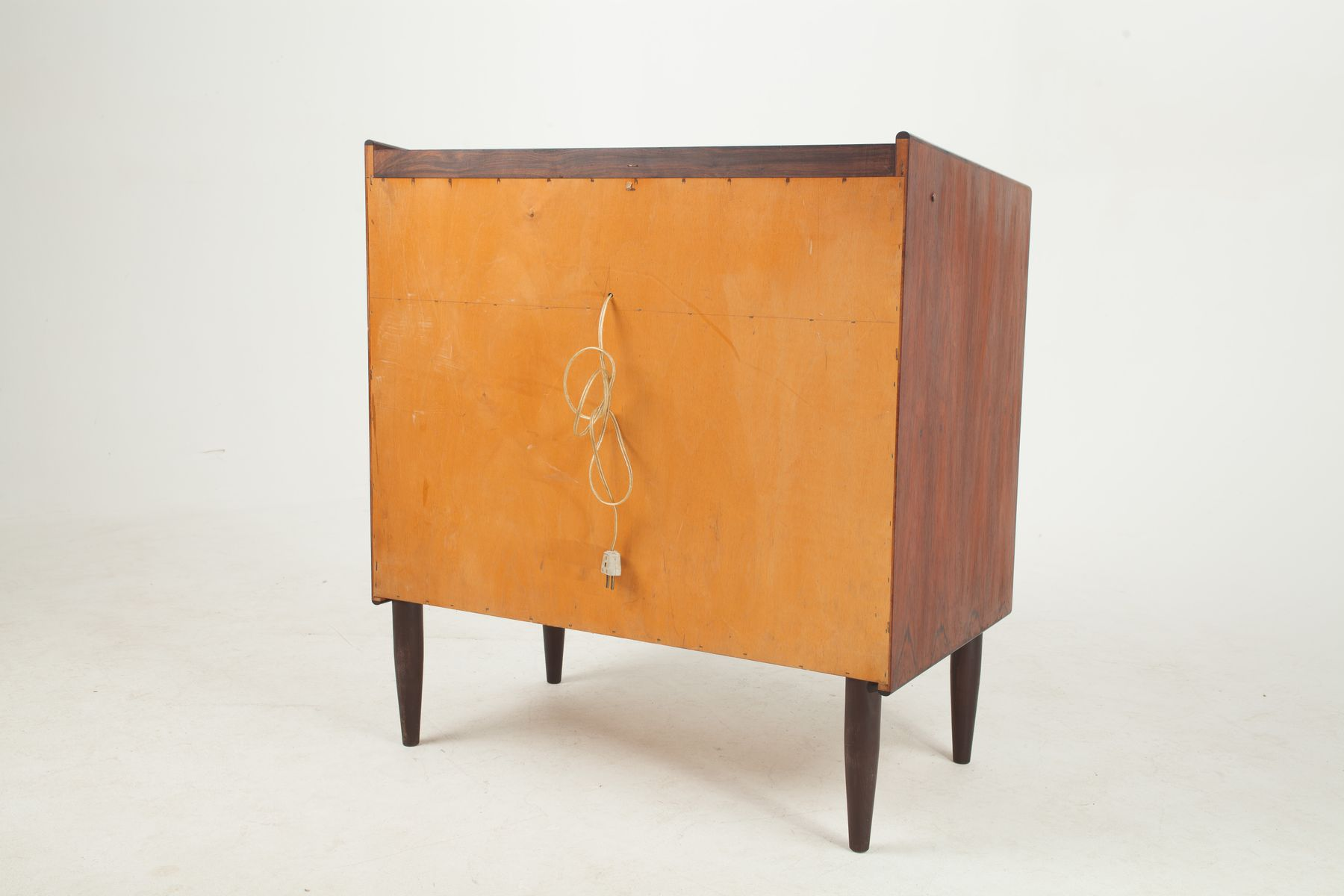 danish rosewood dressing table with mirror lights 1960s for sale at pamono. Black Bedroom Furniture Sets. Home Design Ideas