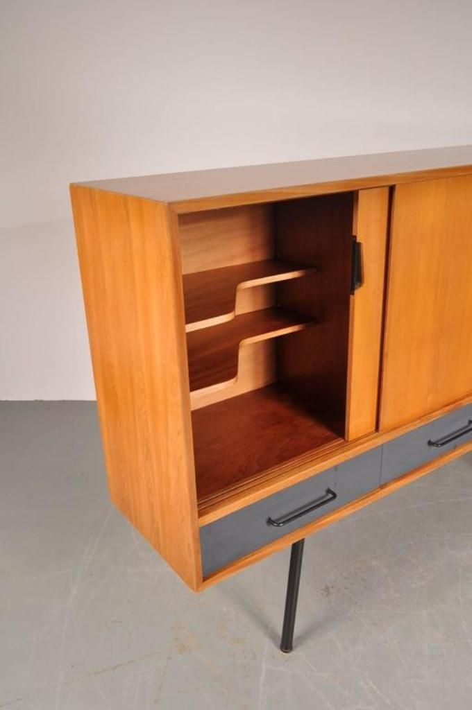 vintage french 102 highboard by janine abraham for meubles. Black Bedroom Furniture Sets. Home Design Ideas