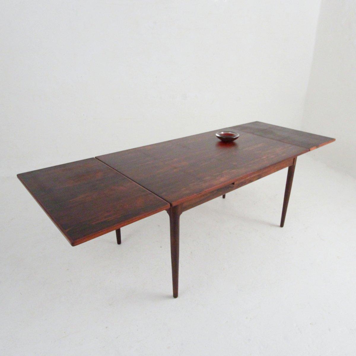 d nischer mid century esstisch aus palisander bei pamono. Black Bedroom Furniture Sets. Home Design Ideas