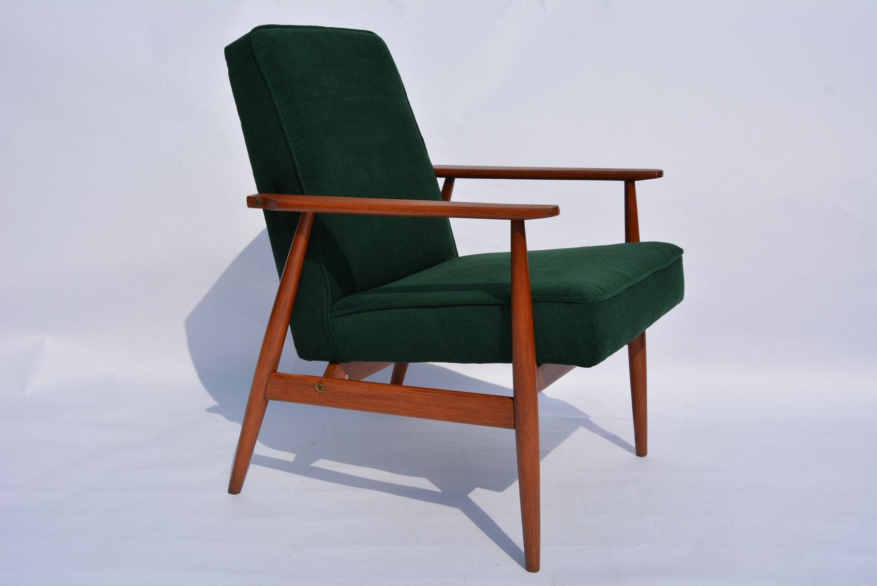 Polnischer Gr Ner Sessel Von H Lis 1960er Bei Pamono Kaufen