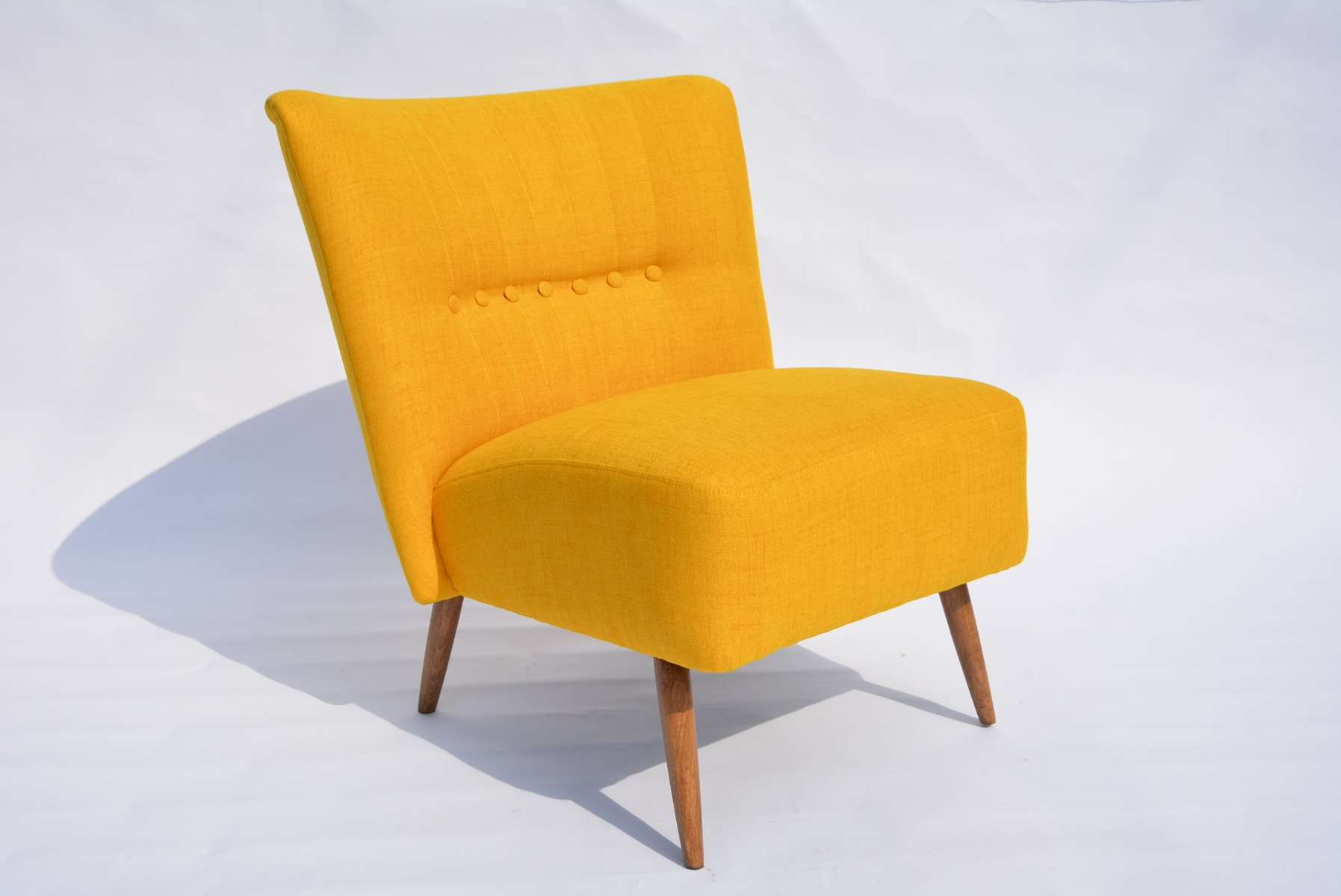 German Yellow Cocktail Chair 1950s for sale at Pamono