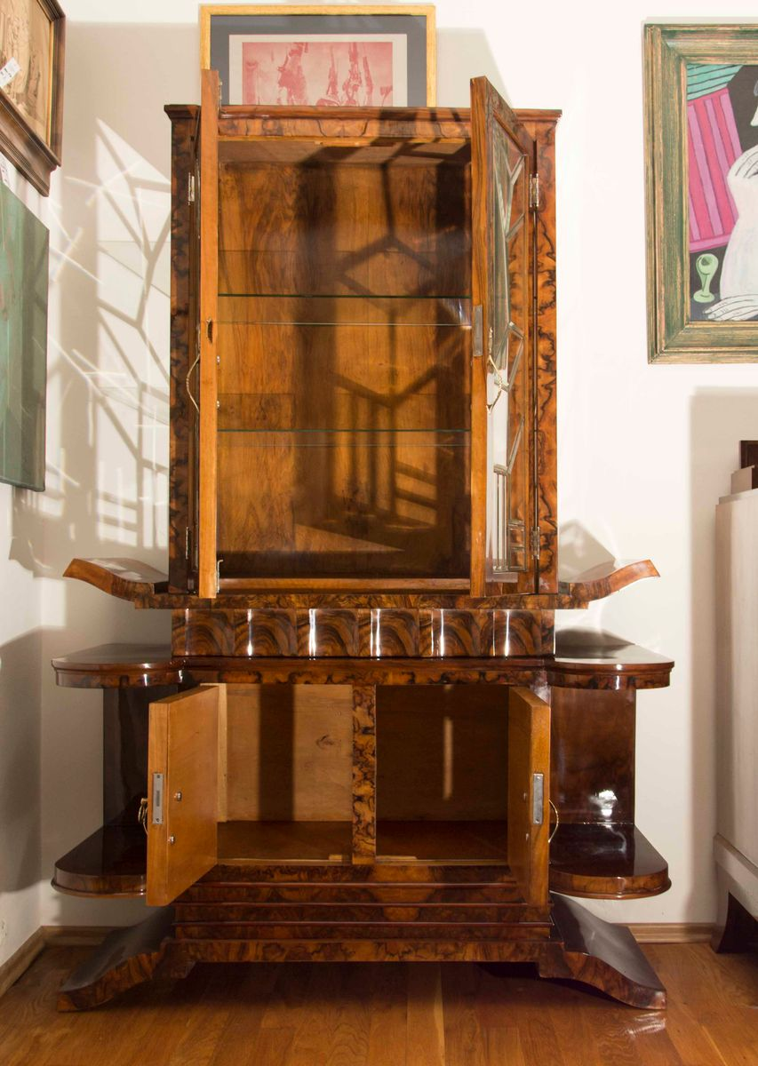 Italian art deco display cabinet 1930s for sale at pamono for 1930s kitchen cabinets for sale