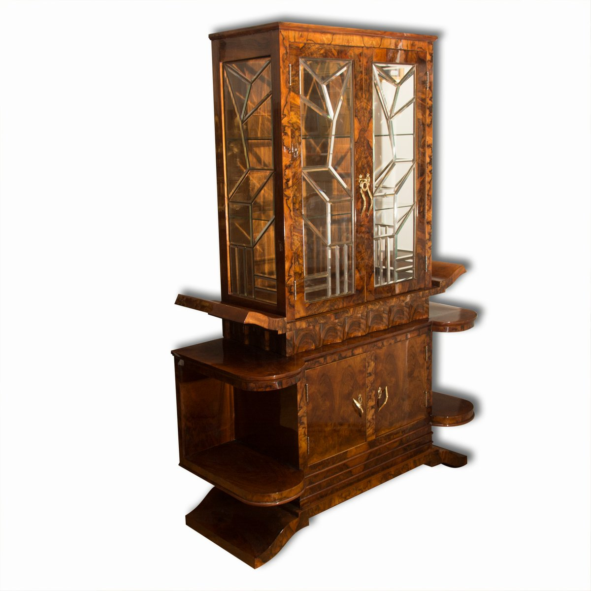 Italian art deco display cabinet 1930s for sale at pamono for Miroir art deco 1930