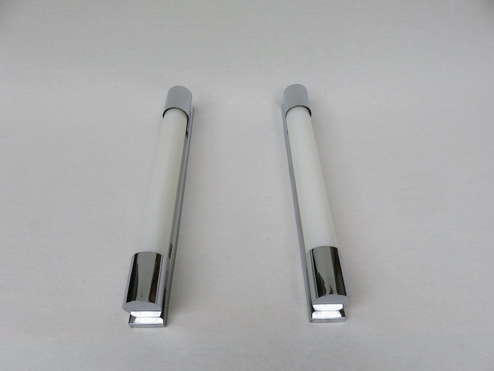 Art Deco Chrome Plated Wall Sconces Set of 2 for sale at Pamono