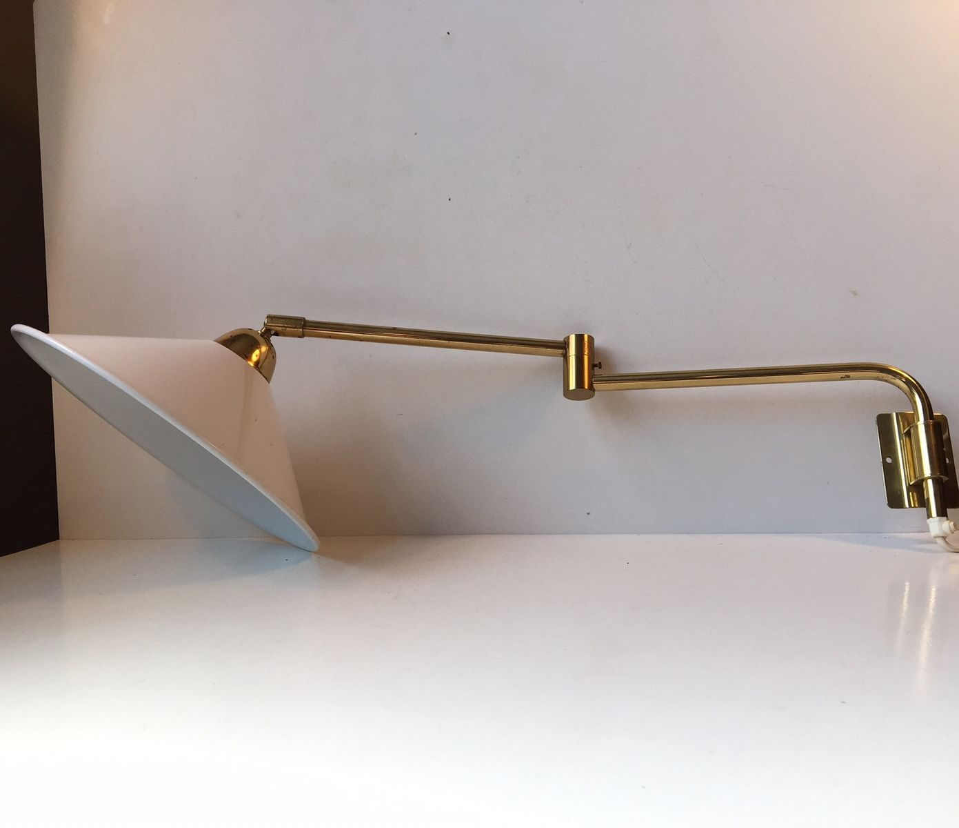 Wall Mounted Articulated Lamp : Mid-Century Danish Articulated Wall Lamp by Bent Nordsted for LB, 1960s for sale at Pamono