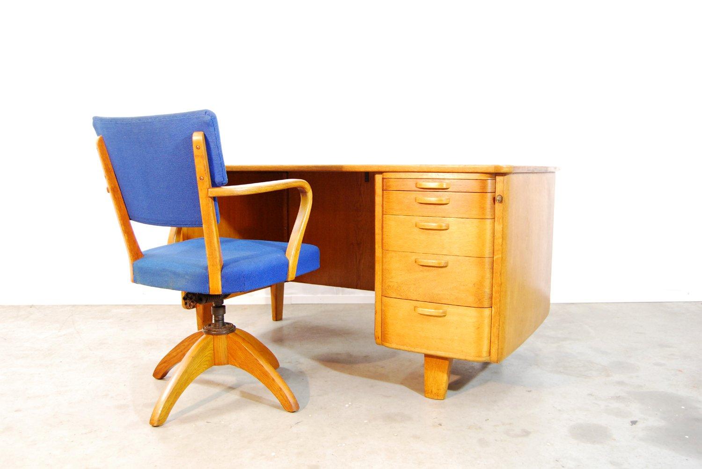 skandinavischer vintage schreibtisch stuhl von. Black Bedroom Furniture Sets. Home Design Ideas