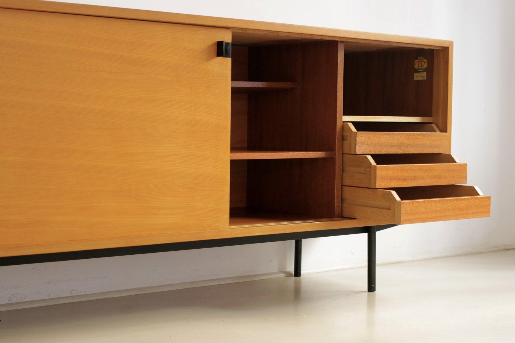 French sideboard by alain richard for meubles tv 1953 for for Meuble tv italien