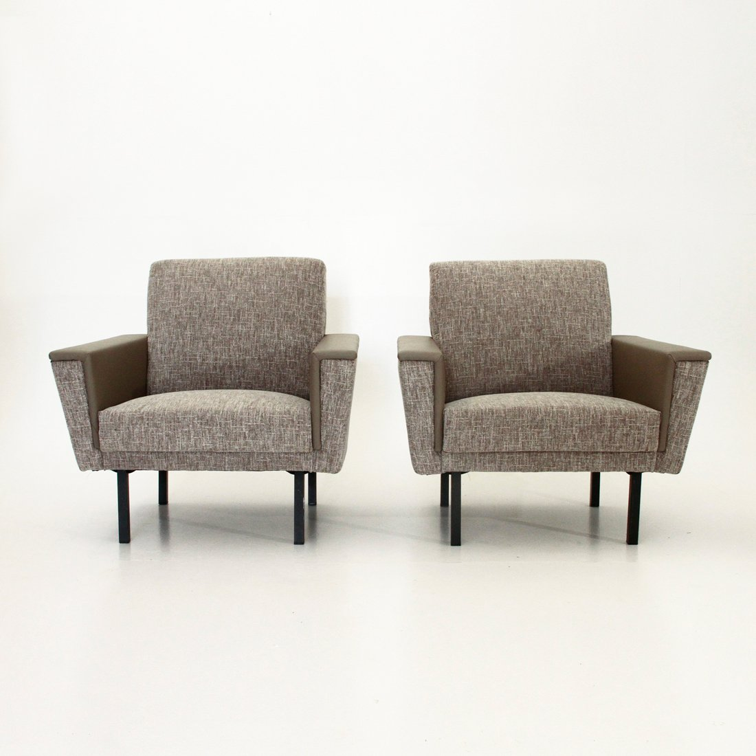 Grey mid century armchairs 1950s set of 2 for sale at pamono for 2 armchairs for sale