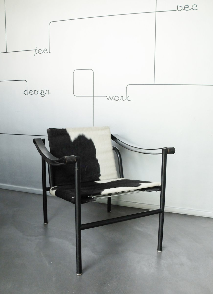 lc1 stuhl von le corbusier pierre jeanneret charlotte perriand f r cassina 1980er bei pamono. Black Bedroom Furniture Sets. Home Design Ideas