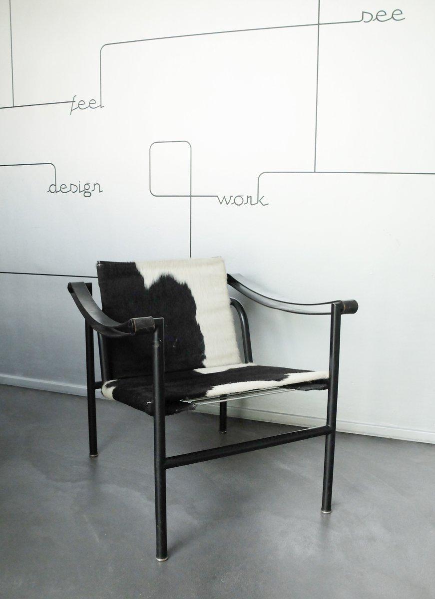 Sedia lc1 di le corbusier jeanneret e perriand per cassina anni 39 80 in vendita su pamono - Sedia le corbusier ...