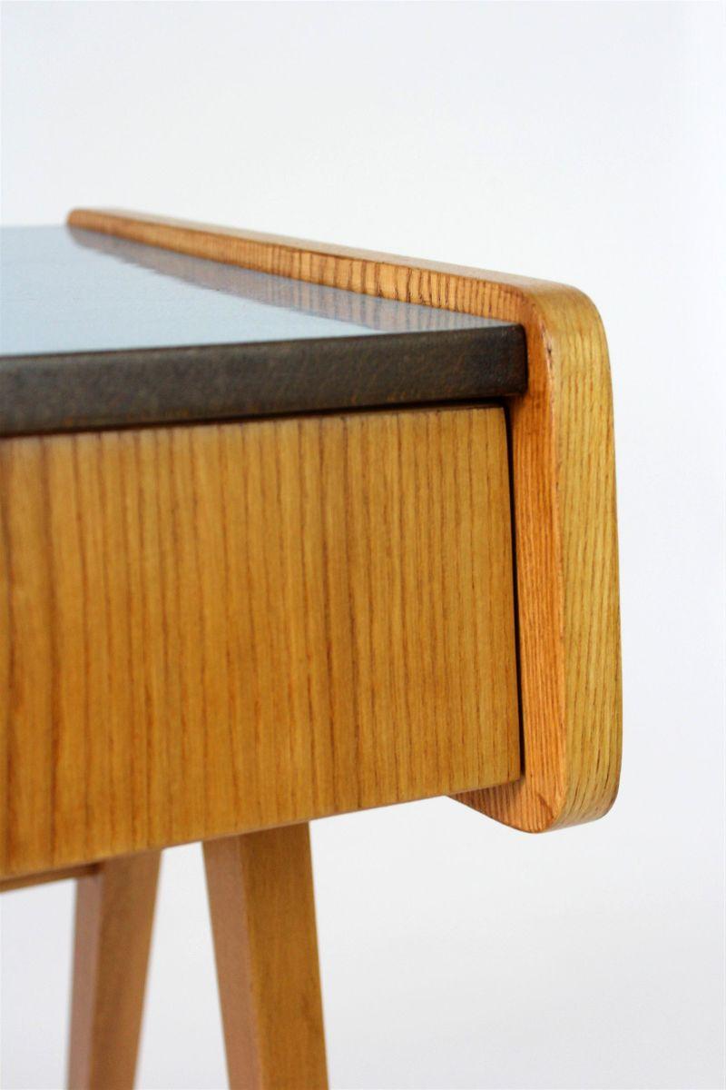 blaue mid century formica nachttische von franti ek jir k. Black Bedroom Furniture Sets. Home Design Ideas