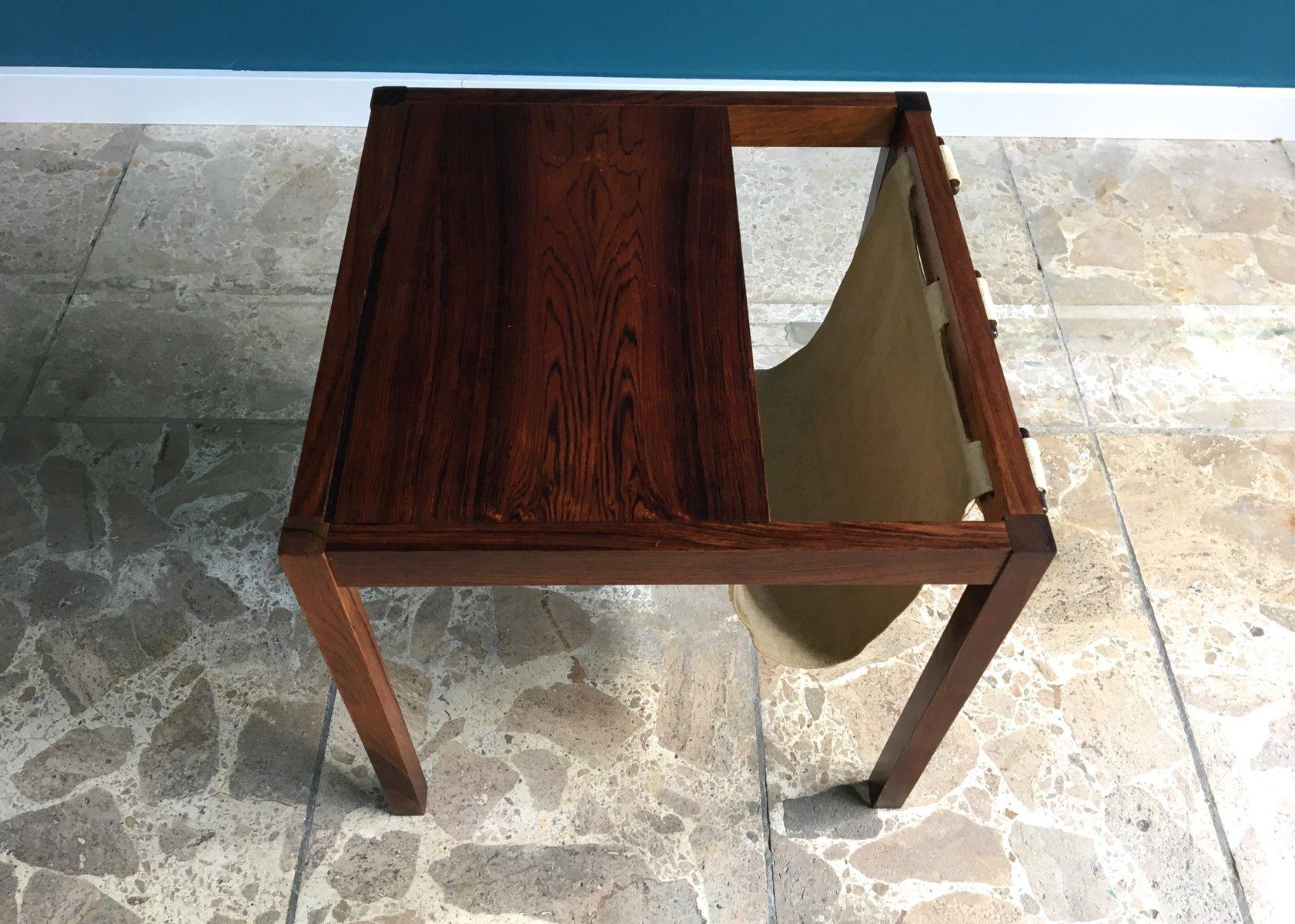 d nischer vintage palisander zeitungsst nder mit ablage 1960er bei pamono kaufen. Black Bedroom Furniture Sets. Home Design Ideas