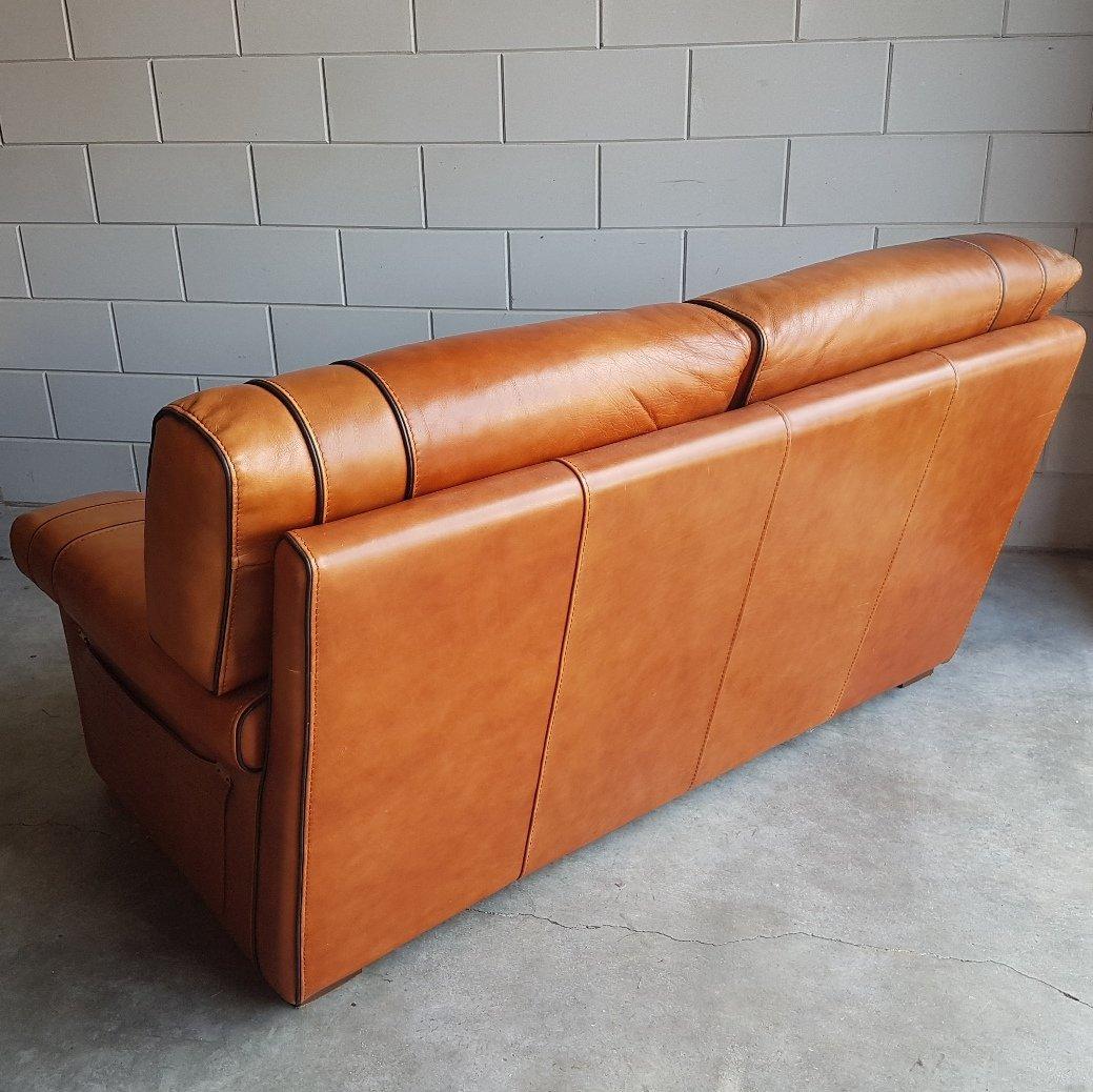 Vintage Cognac Saddle Leather Sofa, 1980s 10. $1,576.00. Price Per Piece