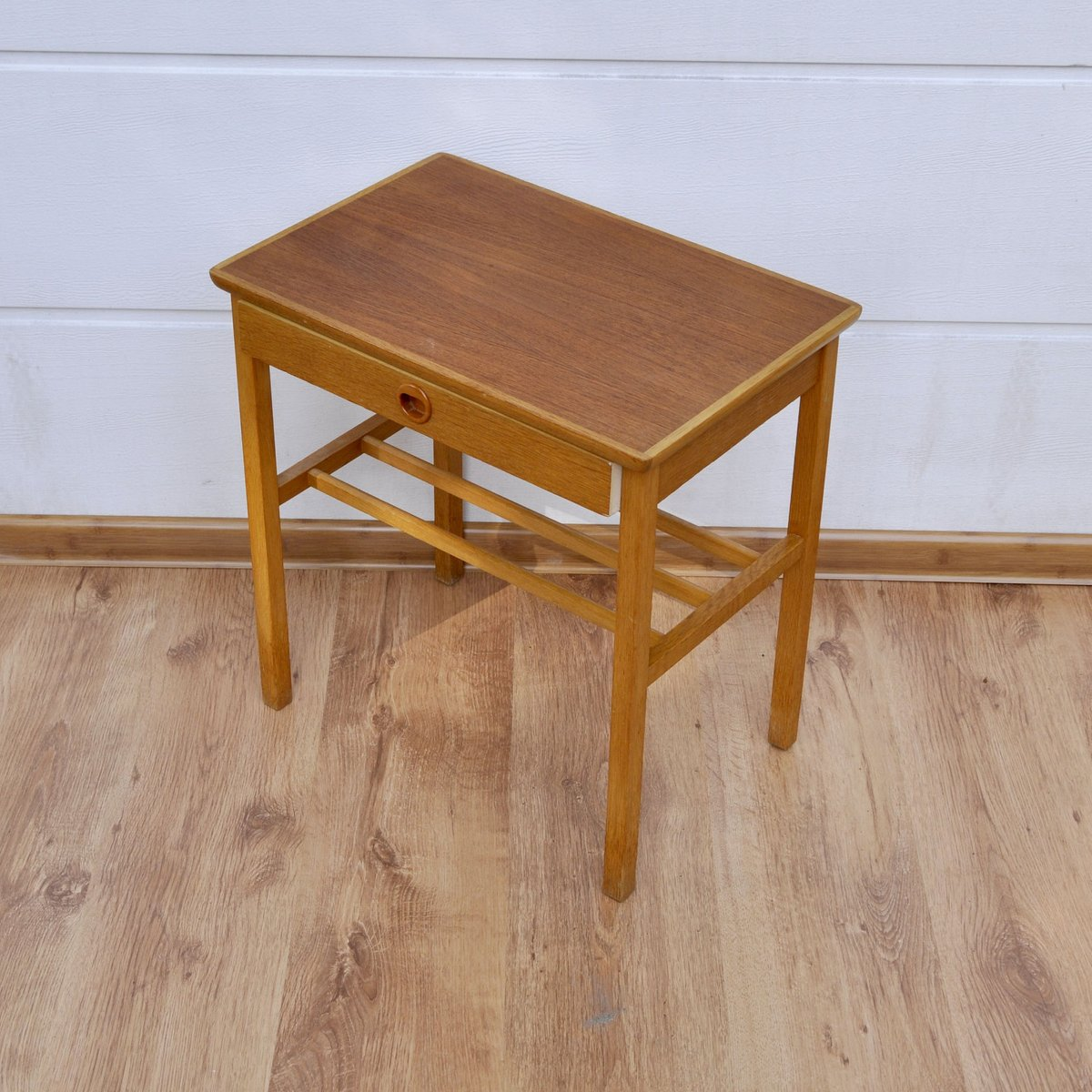 Small teak side table with drawer 1960s for sale at pamono for Small side table with drawers