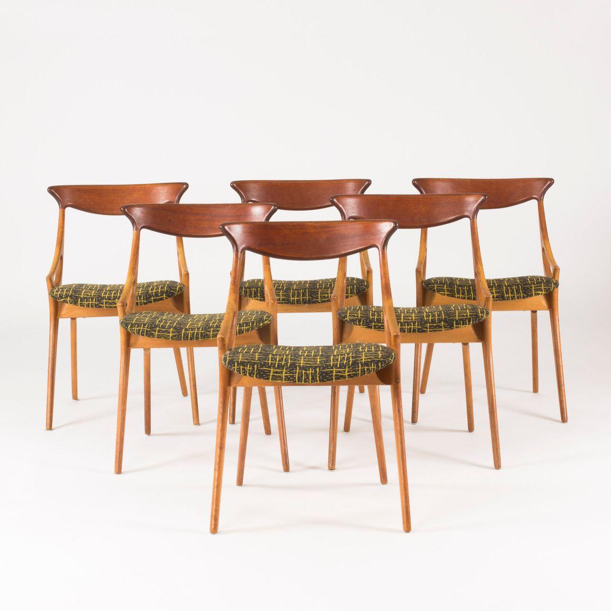 Dining Chairs By Arne Hovmand Olsen For Mogens Kold, 1950s, Set Of 6
