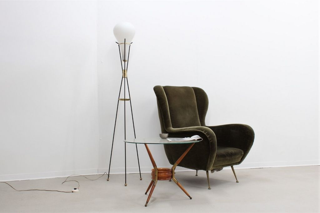 midcentury tripod floor lamp by stilnovo